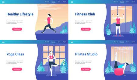 healthy lifestyle lp templates