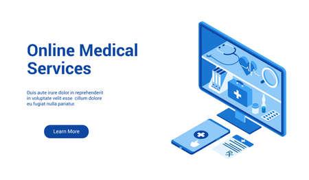 online medical service template 2 Ilustrace