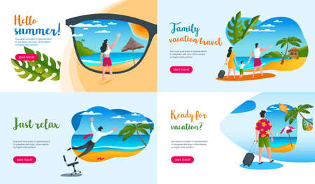 summer vacation concepts Illustration Vectores