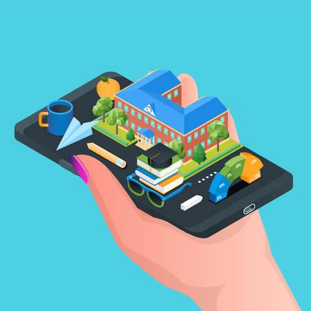 Online education concept 02