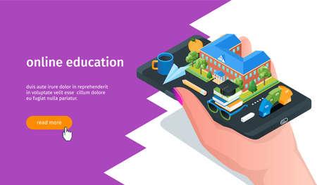 Online education banner 02 Иллюстрация