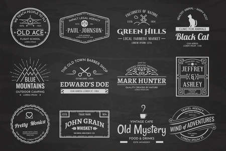 Set of vintage template chalk