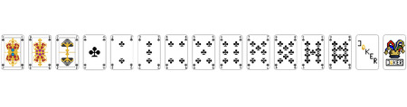 Playing Cards - Pixel Clubs Stock Illustratie