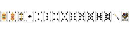 Playing Cards - Pixel Spades Ilustracja