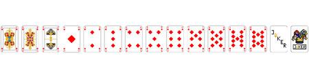 Playing Cards - Pixel Diamonds Standard-Bild - 115069421