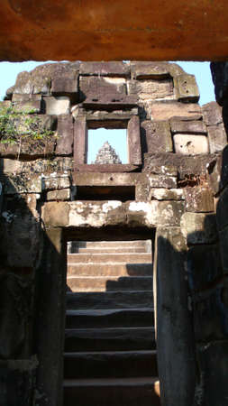 cambodge: Ancient Temple ruins in AngKor, Siem Reap, Cambodia