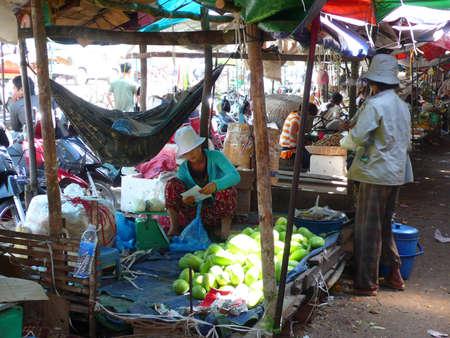 siem reap: Wet Market in Siem Reap, Cambodia