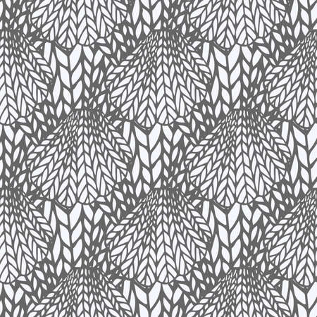 crotchet: Knitting seamless pattern. Endless texture, stylized sweater fabric. Texture for print, wallpaper, fall winter fashion, textile design, website background, fabric