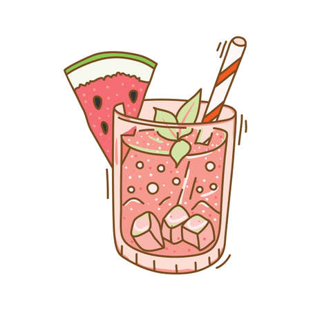 cleanse: fruit infused water Illustration