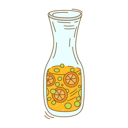 fruit infused water Illustration