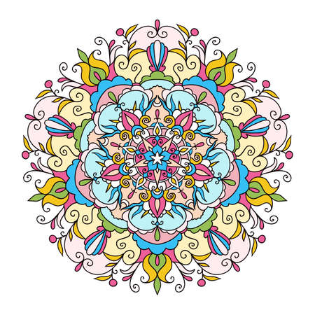 Ornament card with mandala. Circle element made in vector Stock Photo