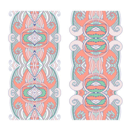 Vector illustration. Abstract seamless border pattern in modern style.