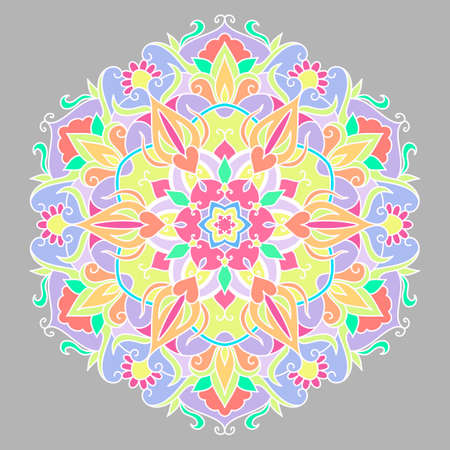 Flower mandalas vector illustration.