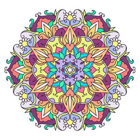 Bloem mandala's vectorillustratie. Stock Illustratie