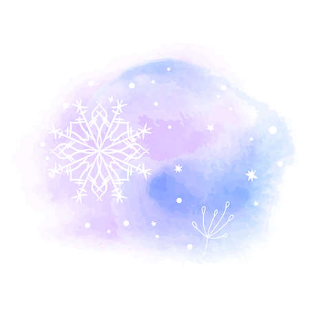 Beautiful abstract template with blue set gentle winter backgrounds on light background. Vector abstract, blue, snowflake background. Ilustrace