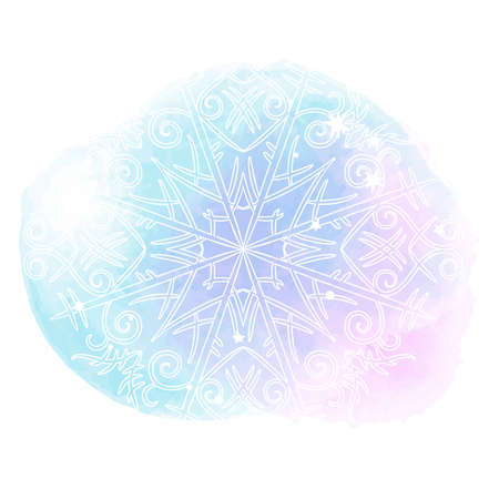 Beautiful abstract template with blue set gentle winter backgrounds on light background. Vector abstract, blue, snowflake background. Stok Fotoğraf
