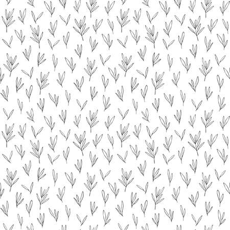 Vector seamless pattern in Scandinavian style with leaves