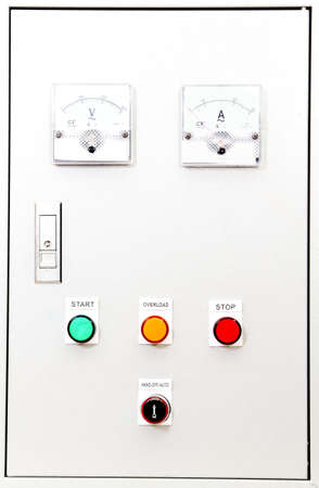 control box:   fronts panel of a control box