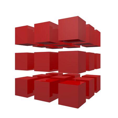 3D Cubes puzzle Stock Photo