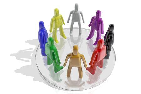 socializando: Diversidad concepto Foto de archivo