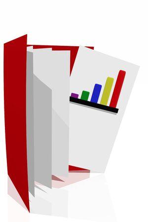 Company Performance Report Stock Photo