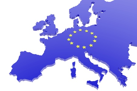 mapa de europa: Unión europea mapa Foto de archivo