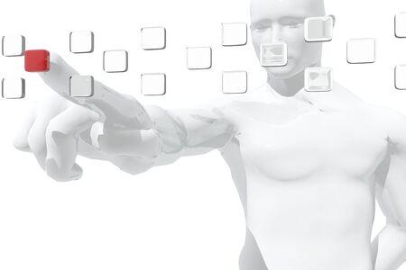 Human figure selecting information Stock Photo - 14670307