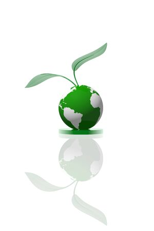 Green planet icon photo