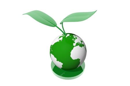 Ecological planet symbol