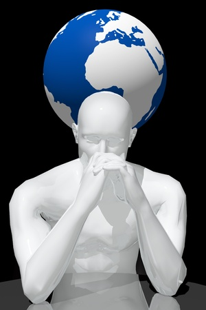 Person Concerned about the planet s problems Stock Photo - 14766967