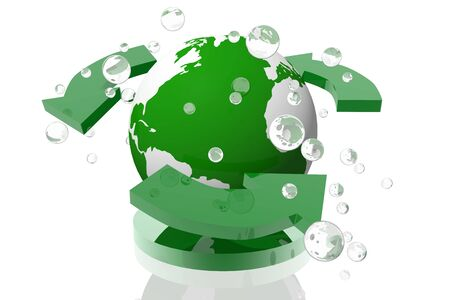 Recycling on the planet icon