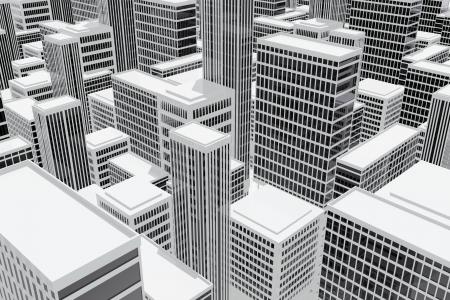 construction companies: Skyscraper buildings in the city