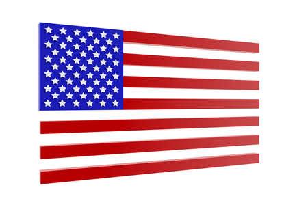 verenigde staten vlag: Verenigde Staten vlag in 3D