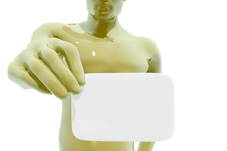 whites: Person displaying his business card
