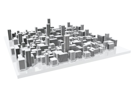 large office: City model used in architecture Stock Photo