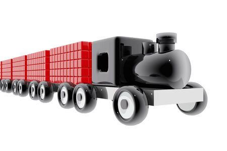 Toy train with goods