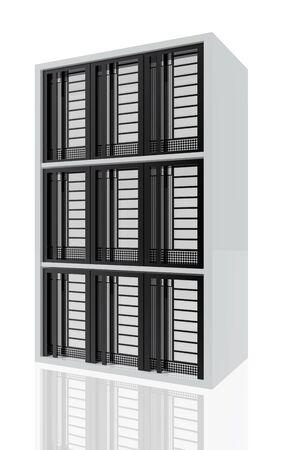 Computer servers rack