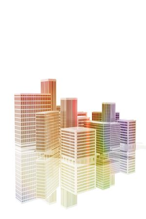Office buildings in the city Stock Photo