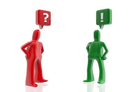 Vraag en Antwoord Stockfoto