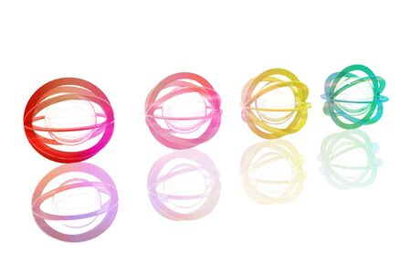 Technological spheres of different colors Stock Photo - 15123085