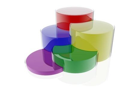 Colorful circular business diagram Stock Photo