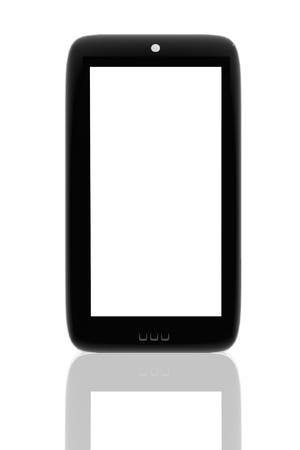 Mobile phone with space to insert images and text Stock Photo