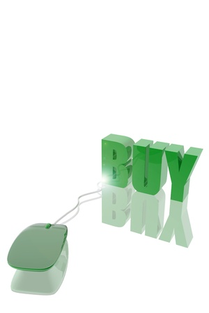 Buy icon connected to a mousepad Stock Photo - 19484784