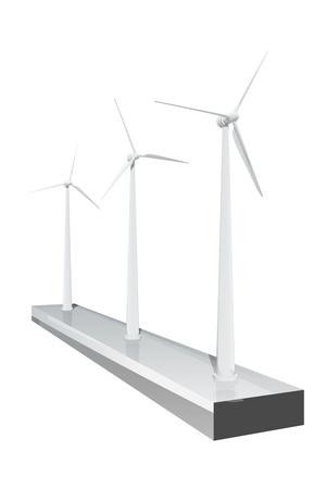 Three windmills Stock Photo