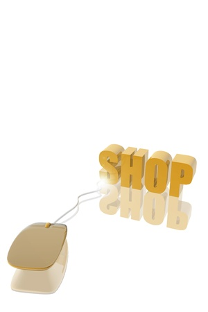 Mousepad and shop icon.  Buy online concept Stock Photo - 19484783