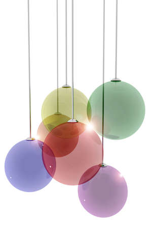 Decorative transparent spheres on white background Stock Photo