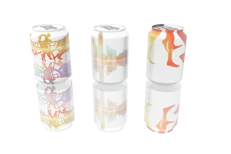 Beverage cans with different designs