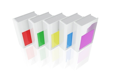 catalogs: Several catalogs of different colors