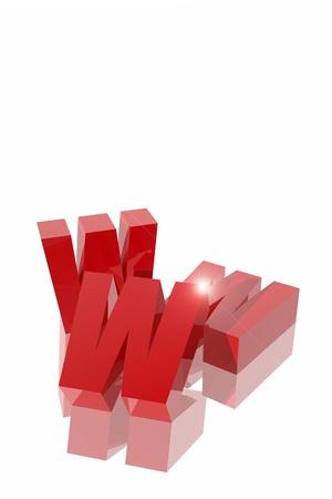Internet symbol.  Three W letters  Stock Photo