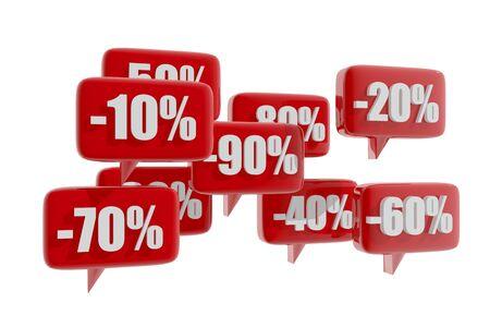 Discount symbols Stock Photo